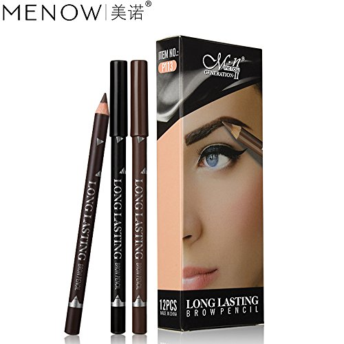 Amazon.com : Fenleo 12Pcs Waterproof Eye Brow Eyeliner Eyebrow Pen Pencil With Brush Makeup Cosmetic Tool : Beauty