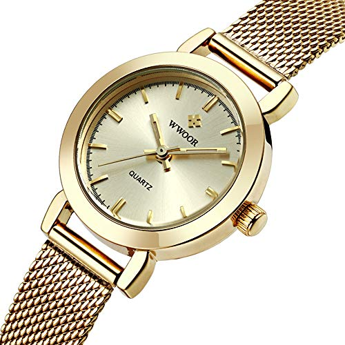 Women's Watch Fashion Analog Quartz Watches with Stainless Steel Mesh Band Gold Waterproof Waterproof Wristwatch Casual Watch Ladies - Ladies Wristwatches