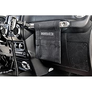 SPIDERWEBSHADE Jeep Wrangler Mesh GrabBag Passenger Accessory Storage Pouch Organizer/USA Made with 5 Year Warranty in Black