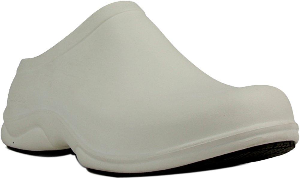 Bogs Men's Stewart Health Care & Food Services Slip On Clog Shoe, White, 13 D(M) US