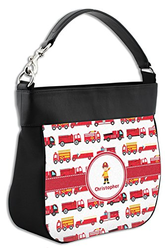 Genuine Front Back Firetrucks Personalized Trim Hobo w Purse amp; Leather qxvwtTP
