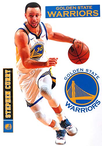 Stephen Curry FATHEAD + Golden State Warriors Logo Set Official NBA Vinyl Wall Graphics 17
