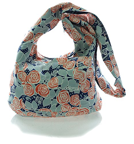 Roses Medium Bag Cotton Messenger Crossbody Avarada Sling Blue Purse Bohemian Hobo Hippie dXnqzdY7vw