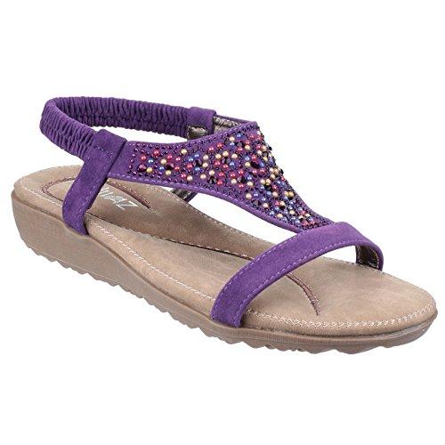 de sur Blanc glisser Nicosie Dames d'été sandales Divaz p1xdT4W4wq