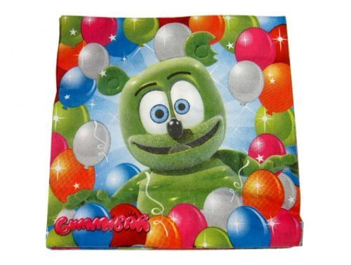 Party Supplies Gummib/är The Gummy Bear 9.5 Birthday Party Drink Napkins