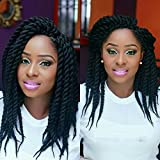 Refined Hair Synthetic Crochet Braids For Woman 12Inch 12Roots/Pack Ombre Senegalese Twist Crotchet Hair Extensions 7Packs/Lot (1B)