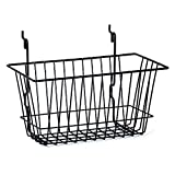 Count of 8 New Retails Black Slatwall Wire Basket 12''w x 6''d x 6''h