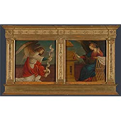The Perfect Effect Canvas Of Oil Painting 'Gaudenzio Ferrari Panels From An Altarpiece The Annunciation ' ,size: 16 X 27 Inch / 41 X 68 Cm ,this Replica Art DecorativePrints On Canvas Is Fit For Study Decoration And Home Decor And Gifts