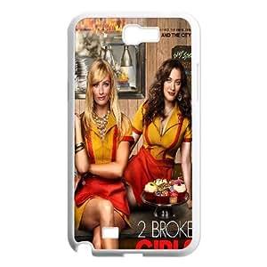 T-TGL(RQ) Print your own photo phone Case for Samsung Galaxy Note 2 N7100 cheap 2 Broke Girls case