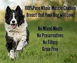 Premium Chicken Jerky Dog Treats. Made in USA Only. Grain Free, All Natural, 1 Ingredient, USDA Grade A Chicken Breast. Pet Training Thick Jerky Chew. No Preservatives, 100% Empty Bag Guaranteed!
