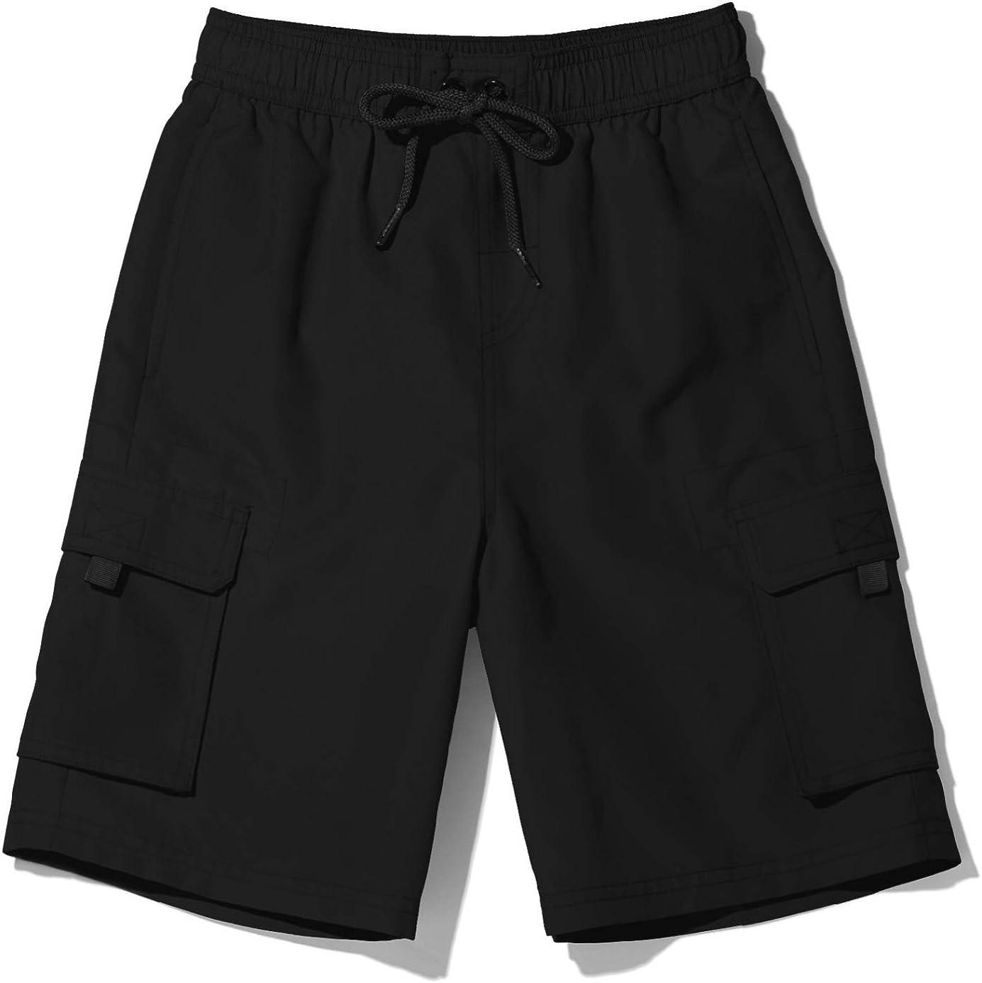 Swimsuit Swimwear with Inner Mesh Liner Beach Board Swim Shorts TSLA Boys Swim Trunks Quick Dry UPF 50