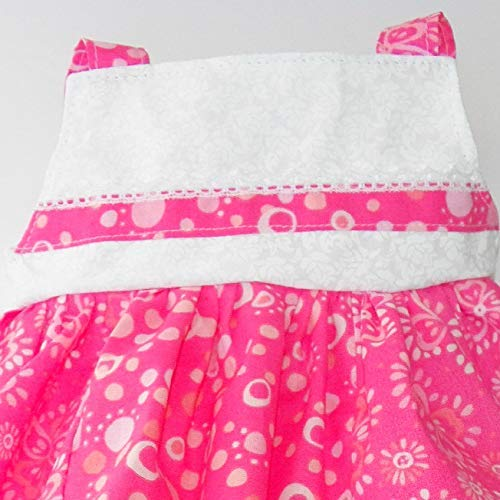 Cabbage Patch Doll Clothes Fits 16 Inch Girl Includes One Pink Floral Summer Dress and Ruffled Polka Dot Pants No Doll