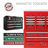 "Steellabels ""Magnetic""Tool Box Organizer Labels organize boxes, drawers & cabinets ""Quick & Easy"", fits all brands of 'Steel' tool chest Craftsman, Snap-on, Mac, Matco & Cornwell"