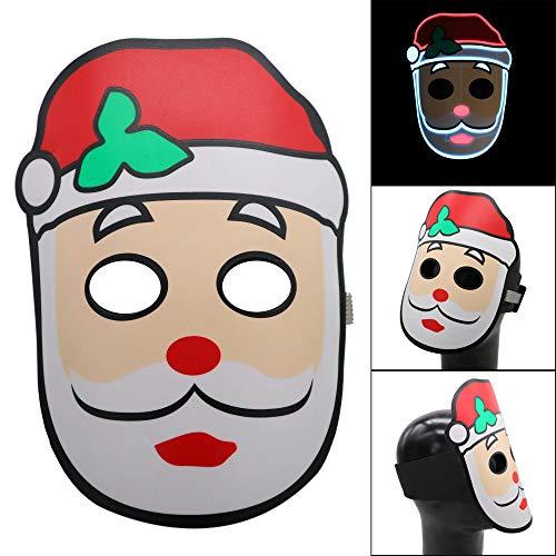 Cocal Creative Design Christmas Version Led Sound Reactive LED Mask, Lightweight Adjustable Music Light Up Mask Toy -