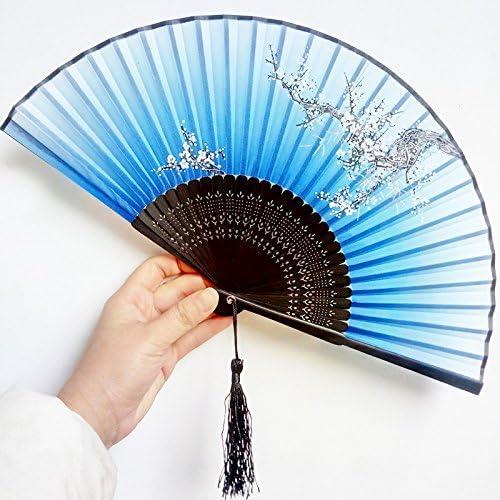 Ventilador chino Zi Song Xiaozhu, Ventilador plegable de 7 ...