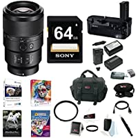 Sony FE 90mm f/2.8-22 Macro G OSS Lens, VGC2EM Vertical Grip Bundle Package