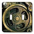 3dRose lsp_167128_2 Steam Punk Gears in Bronze Realistic Look Fun Art Double Toggle Switch