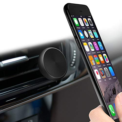 Magnetic Holder Car Phone Mount - SEA Compatible Cell Phone iPhone X/8/7/6 Plus Galaxy S9/Note 8/S8/S7/S6 Edge Light Tablet and More | Stylish Black Super Strong (%100 Safeness & Comfort)