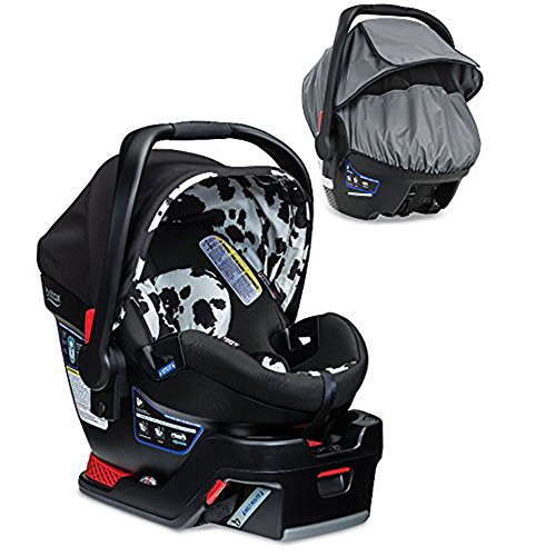 Britax B-Safe 35 Elite Infant Car Seat With All-Weather Car Seat Cover, (Cowmooflage Safety Car Seat)