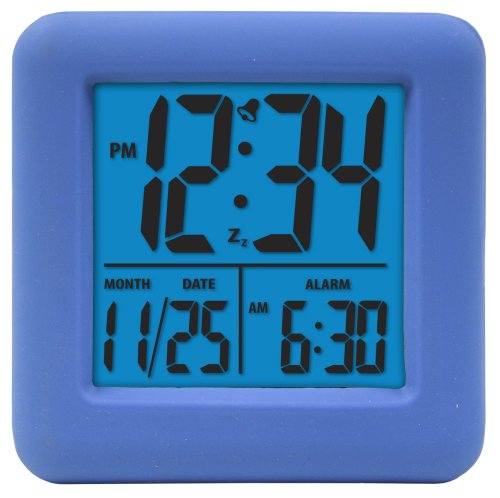 (Equity by La Crosse 70905 Soft Blue Cube LCD Alarm Clock)