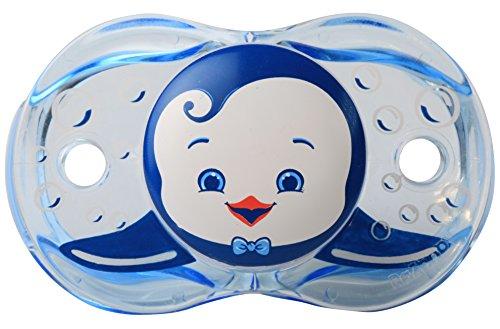 RaZbaby Keep-It-Kleen Pacifier, Ethan Penguin, 0-36 Months
