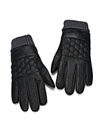 Naladoo Winter Gloves for Men Leather Sports Outdoor Warm Touch Screen Gloves