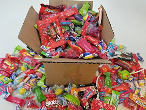 Halloween Candy - The Ultimate Care Halloween Package 4lb Assorted Party Mix Candy incl. Hot Tamales Mike & Ike Hi Chew Starburst & Skittles Brachs Abra Cabubble Cherry Super Bubble Gum Laffy Taffy Sweetarts Lemonhead