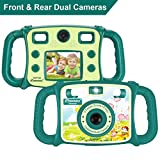 Prograce Kids Camera Dual Selfie Camera 1080P HD Video Recorder Digital Action Camera