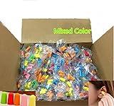 300 Packs (600 Earplugs) Ear Plugs Lot Bulk, Soft Mixed Colorful Foam Sleep Travel Noise Shooting, earplugs