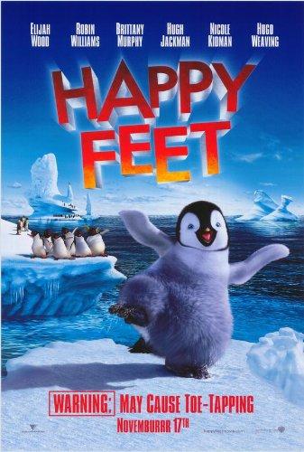 (27x40) Happy Feet Movie (Dancing Penguin) Poster (Happy Feet Penguin Pictures)