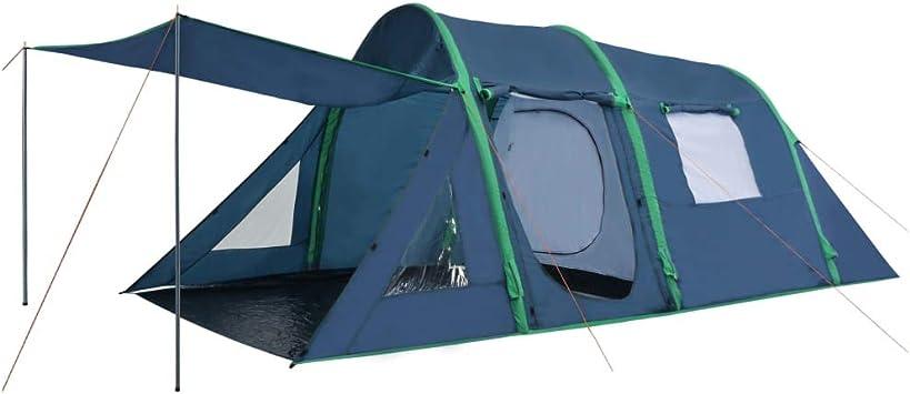 vidaXL Tienda de Campaña Artículos y Complementos Exteriores Jardín Aire Libre Acampada Senderismo Camping con Vigas Hinchables 500x220x180 cm Verde: Amazon.es: Deportes y aire libre