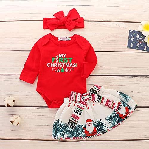 Baby Girl Traje de Navidad Conjunto de 3 piezas Camisa de ...