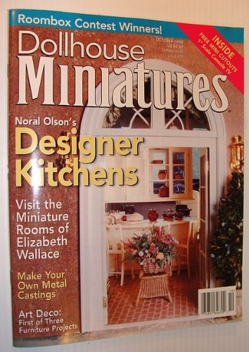 Dollhouse Miniatures Magazine, October 1998 *Noral Olson's Designer Kitchens*