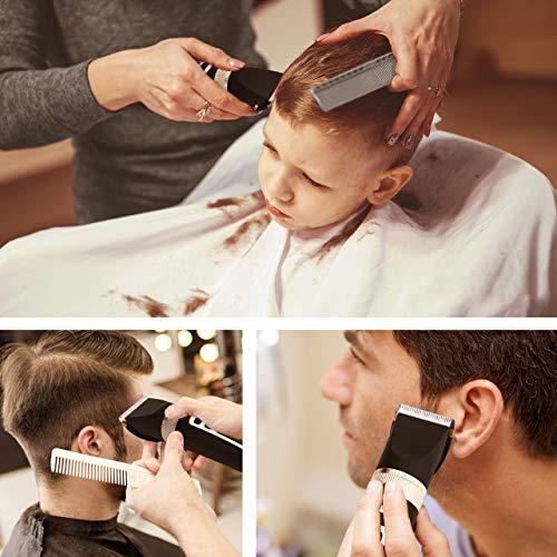 Powerextra Haarschneider & Akku-Bartschneider für Männer mit 7 Kämmen Pinsel und Verdünner inklusive, USB wiederaufladbar mit LED-Display