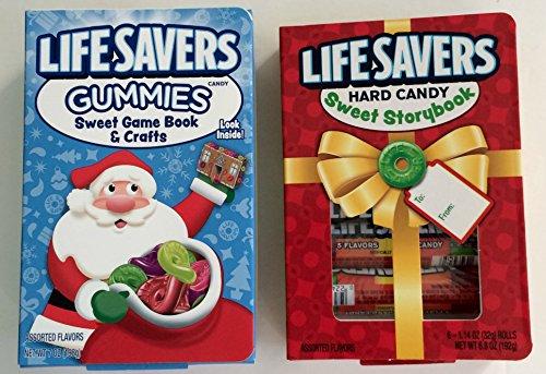 LifeSavers Christmas Sweet Story Book Hard Candy Book and Lifesavers Gummies Sweet Game Book -