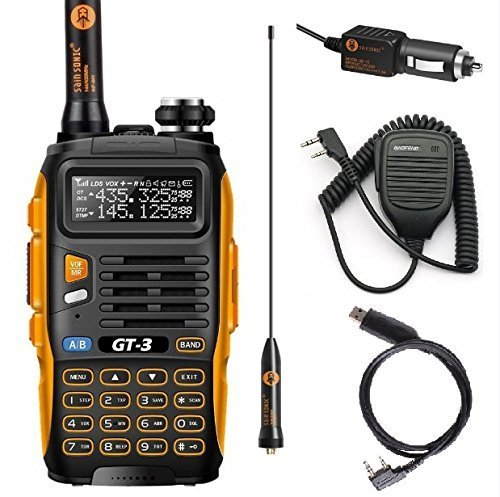 Baofeng PoFung GT-3 Mark-II Transceiver, FM Radio, Dual Band 136-174/400-520 MHz, Chipsets Upgraded, ABS Frame + Programming Cable + Remote Speaker