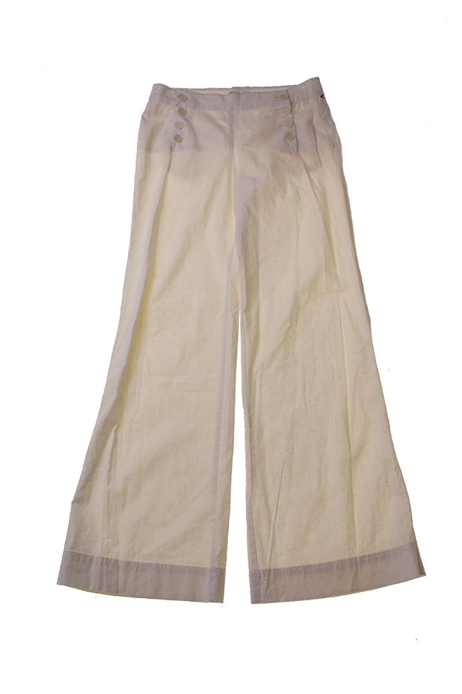 Studio M Ivory Button Linen Sailor Pants
