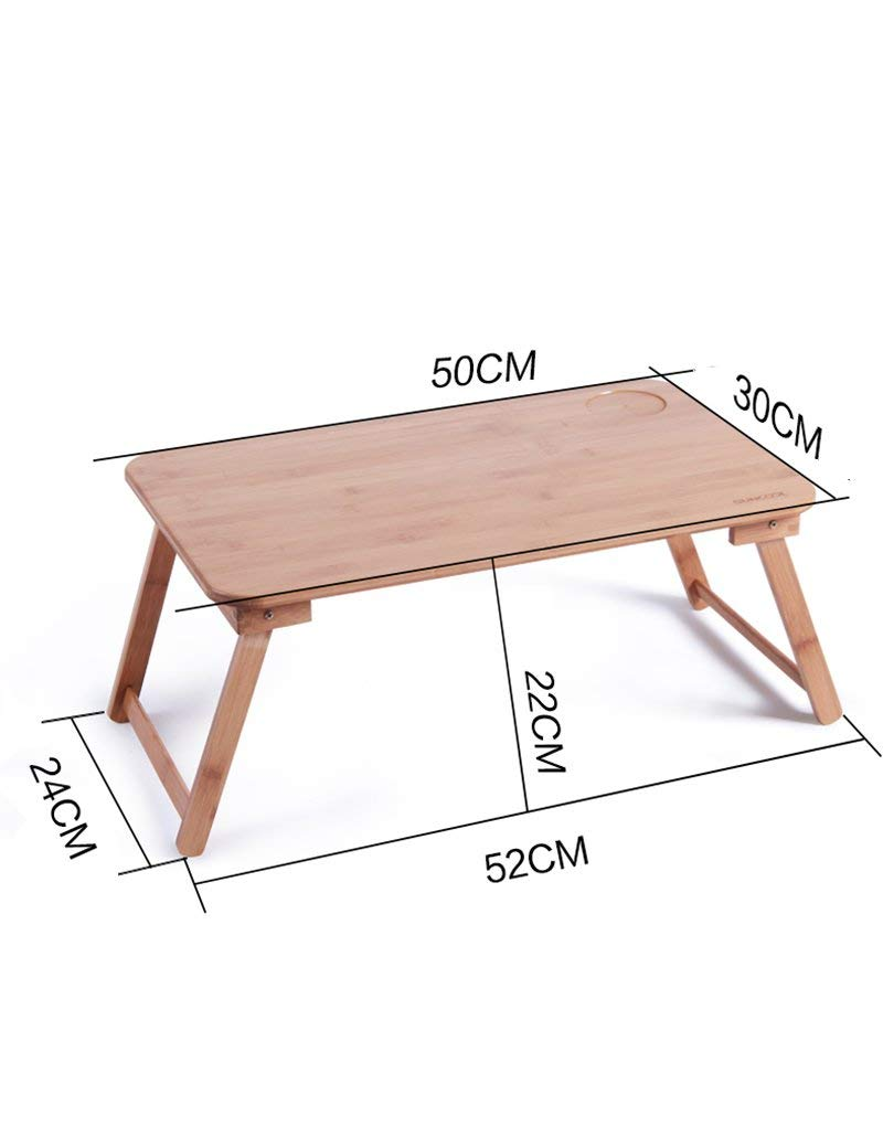 GUI Table-Bamboo Foldable Laptop Tables Bed Small Desk Learning Desk,Small