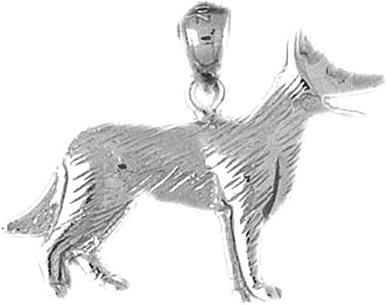 21 mm Dog Pendant Jewels Obsession German Shepard Dog Pendant Sterling Silver 925 German Shepard