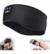 MUSICOZY Sleep Headphones Bluetooth Sports Headband, Wireless Music Headband Headphones, IPX6 Wat...