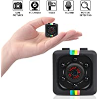 Mini Hidden Camera, SunbaYouth 1080P Full HD Covert Tiny Spy Cam with Activated Motion Detection, Snapshot and Night Vision for Home and Office Security