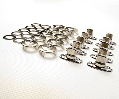Turn Button Eyelet and Stud, Common Sense Fasteners, 10 Piece Set, Marine Grade Nickel Plated Brass, Dot Brand