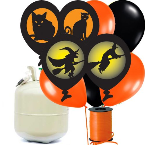 Halloween Balloons and Helium Party Kit