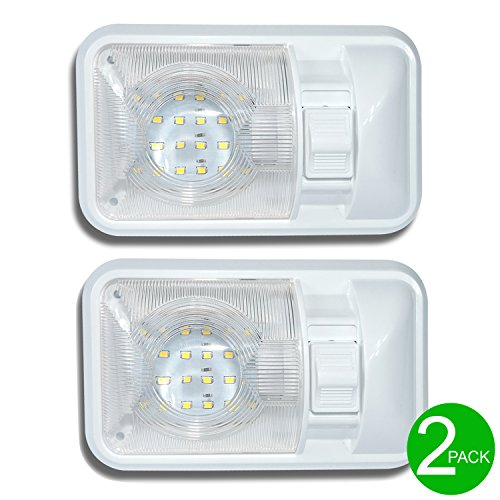 Leisure-LED-2-Pack-12V-Led-RV-Ceiling-Dome-Light-RV-Interior-Lighting-for-Trailer-Camper-with-Switch-Single-Dome-280LM