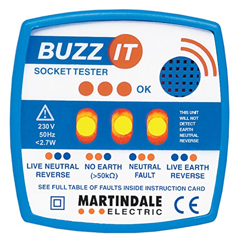 Martindale BZ101 (Buzz-It) 240V Socket Tester with Audible Buzzer Martindale Electric Co Ltd