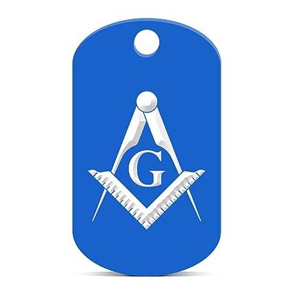 Amazon com: Freemasonry Emblem Keychain GI Dog Tag engraved