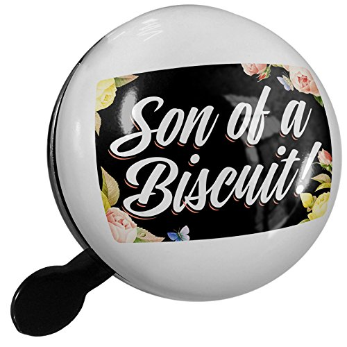Small Bike Bell Floral Border Son of a Biscuit! - - Floral Biscuit
