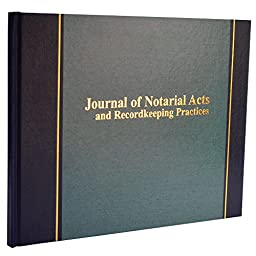 Wilson Jones Journal of Notarial Acts Notary Book, 8-5/8\