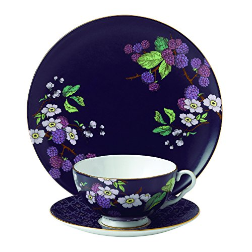 (Wedgwood 3 Piece Garden Tea Plate Set, Blackberry)