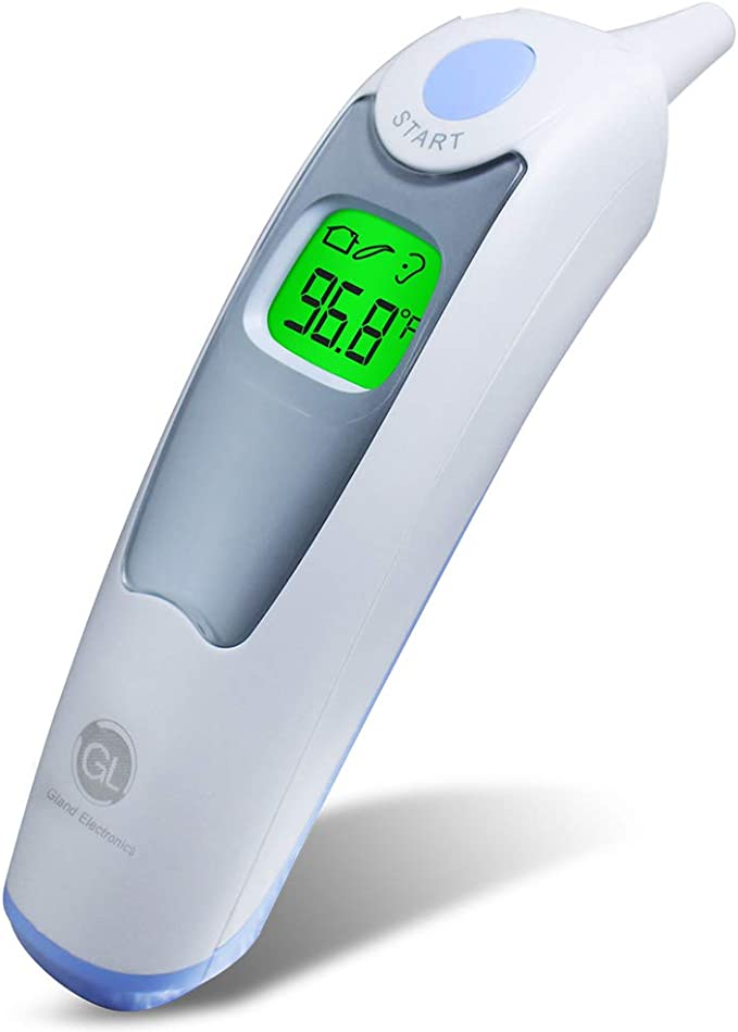 Decdeal Non-Contact IR Infrared Sensor Forehead Body Thermometer Temperature Measurement Double Colors LCD Digital Display Supported 32 Groups Data Record Portable for Baby Kids A-dult